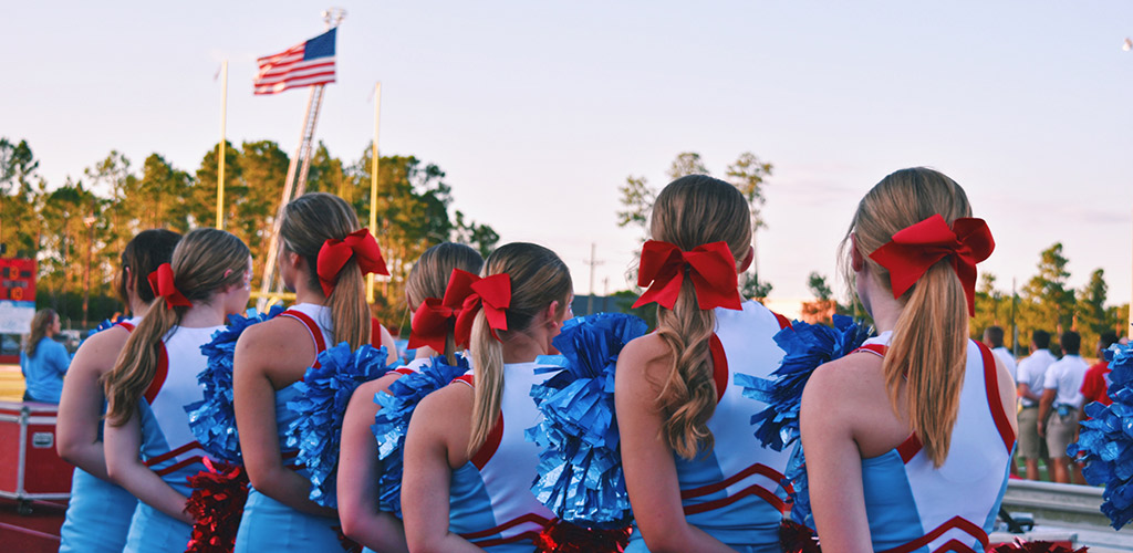 WEP Header - USA - cheerleaders high school